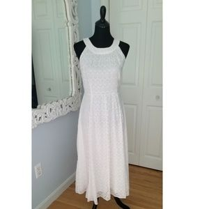 Tommy Hilfiger White and Gold Maxi Dress Size 10